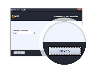AVG Antivirus installation step 2