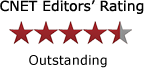 Award, CNET Editors' Rating, 4.5 stars, outstanding, 144 x 81 px