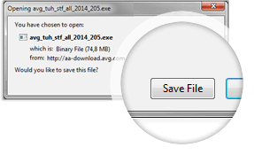 AVG TuneUp download, Save File screenshot