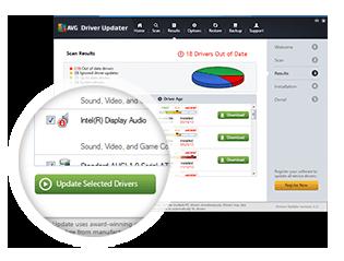 Driver Updater Screenshot highlighting Update Selected Drivers button