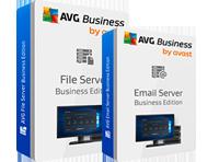 顯示 AntiVirus Business Edition 介面的筆記型電腦與監視器