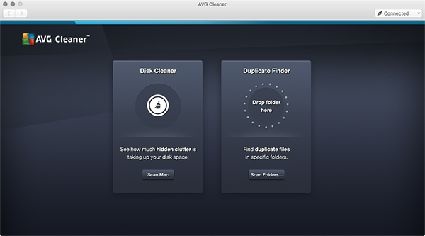 Panel de Cleaner para Mac
