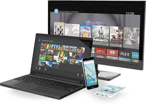 Devices - laptop, TV, PC and mobile phones