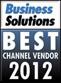 Soluções empresariais - Prêmio de melhor fornecedor de canal de 2012