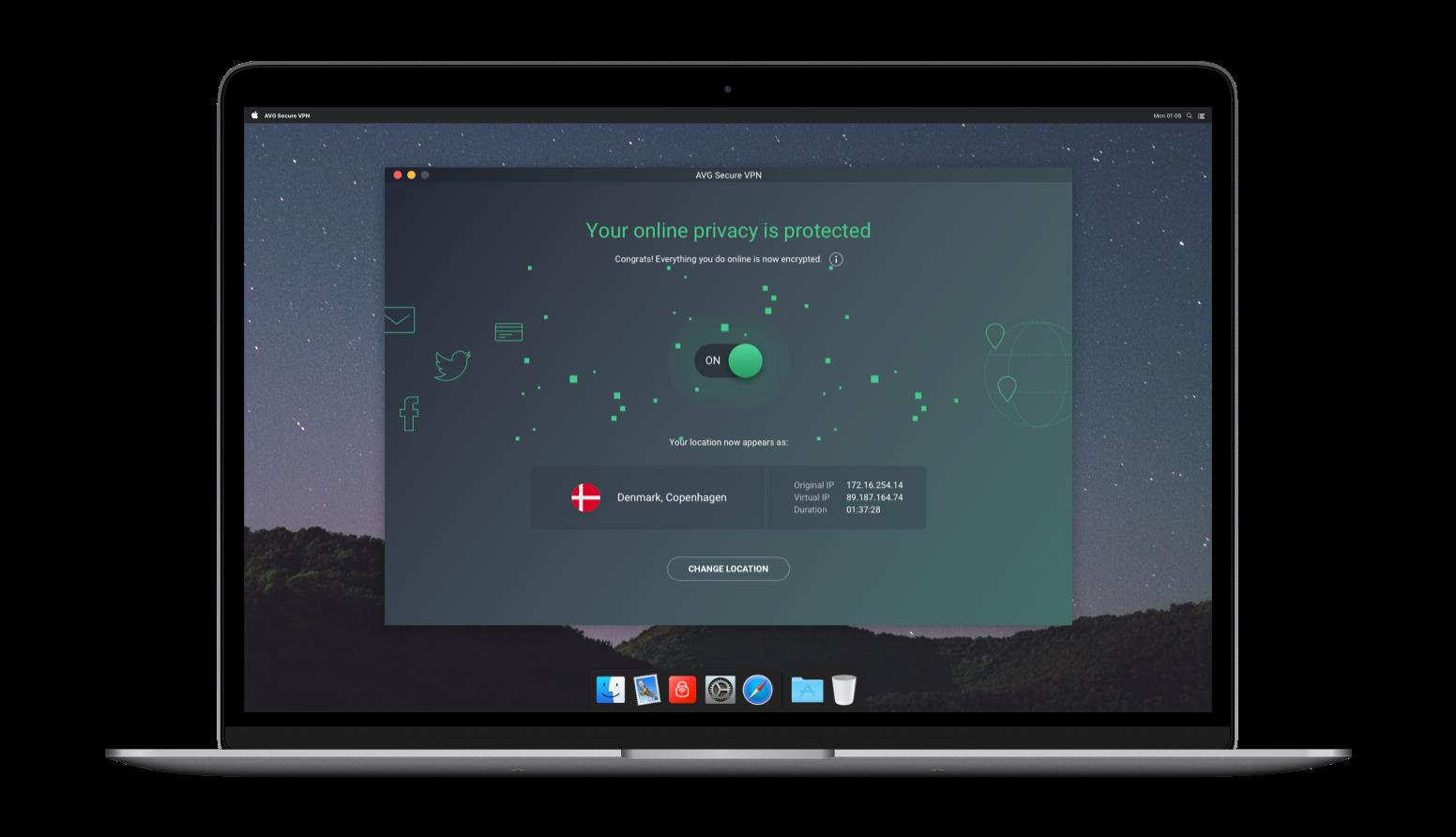 Free VPN Download for Mac | AVG Secure VPN