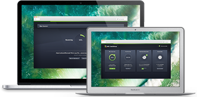 Benutzeroberfläche von AntiVirus für Mac–Business Edition auf MacBooks