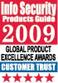 Premio a la excelencia de la guía de productos Info Security, confianza del cliente, 2009