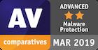 Оценка Advanced в категории «Защита от вредоносных программ»