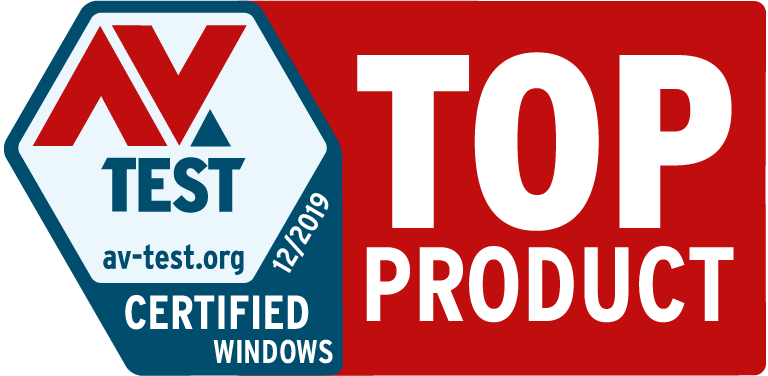 AV Test certified Windows award - Mars 2019