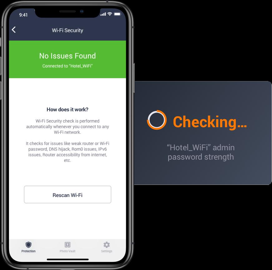 Automatisk sjekk av Wi-Fi-forbindelsen