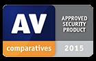 """AV-Comparatives-Auszeichnung """"Zertifiziertes Sicherheitsprodukt 2015"""""""