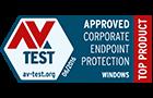 Penghargaan produk unggulan untuk bisnis versi AV-Test