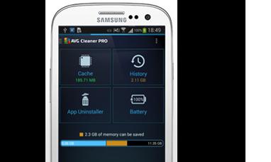 Kırpılmış Samsung Galaxy arayüzü, 382 x 228 piksel