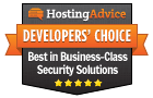 Награда «Выбор разработчиков HostingAdvice»