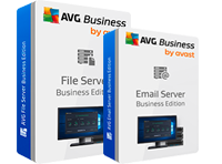 Feature boxes AntiVirus and Email Antivirus Business Edition