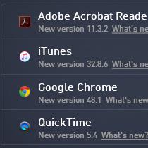 Uživatelské rozhraní aktualizace