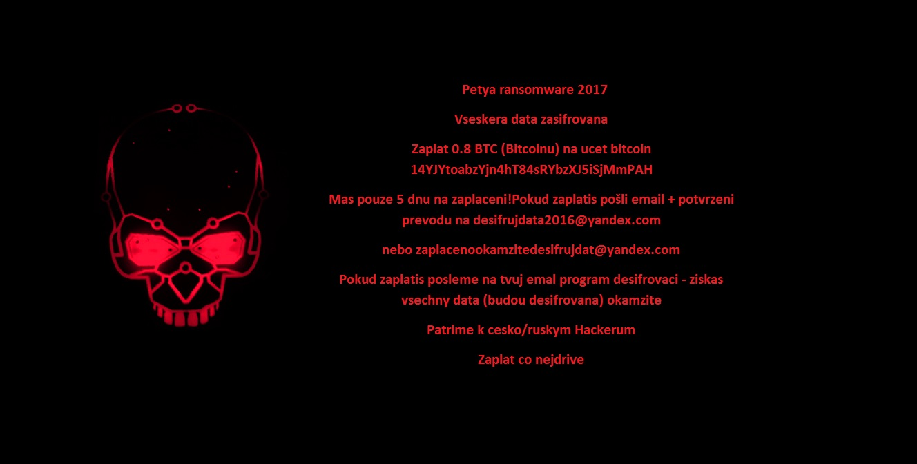 Snímek obrazovky sransomwarem crypt888 verze4