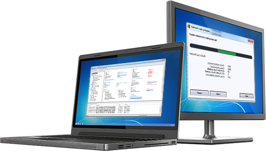PC e laptop con interfaccia utente di AVG Amministrazione Remota