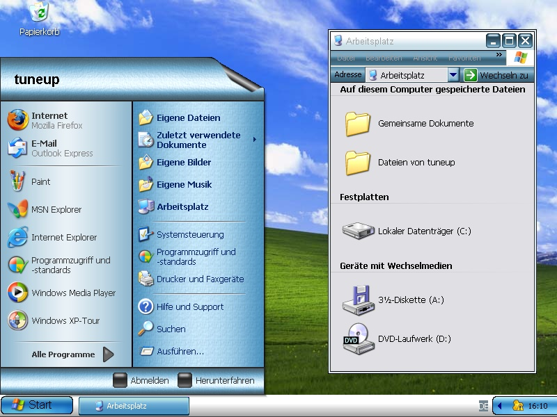 Change the look and feel of windows XP