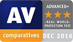 AV comparatives December 2016
