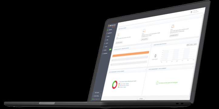 UI Funcionalidades do novo AVG Business Cloud Management Console