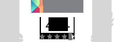 Calificación 4.4/5 en Google Play