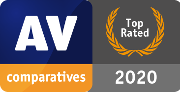 AV-Comparatives - Label Top Rated Product 2020