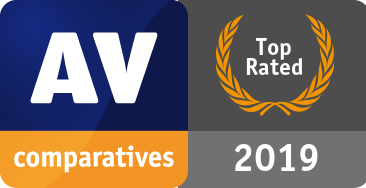 AV-Comparatives - Produto com Classificação de Topo de 2019