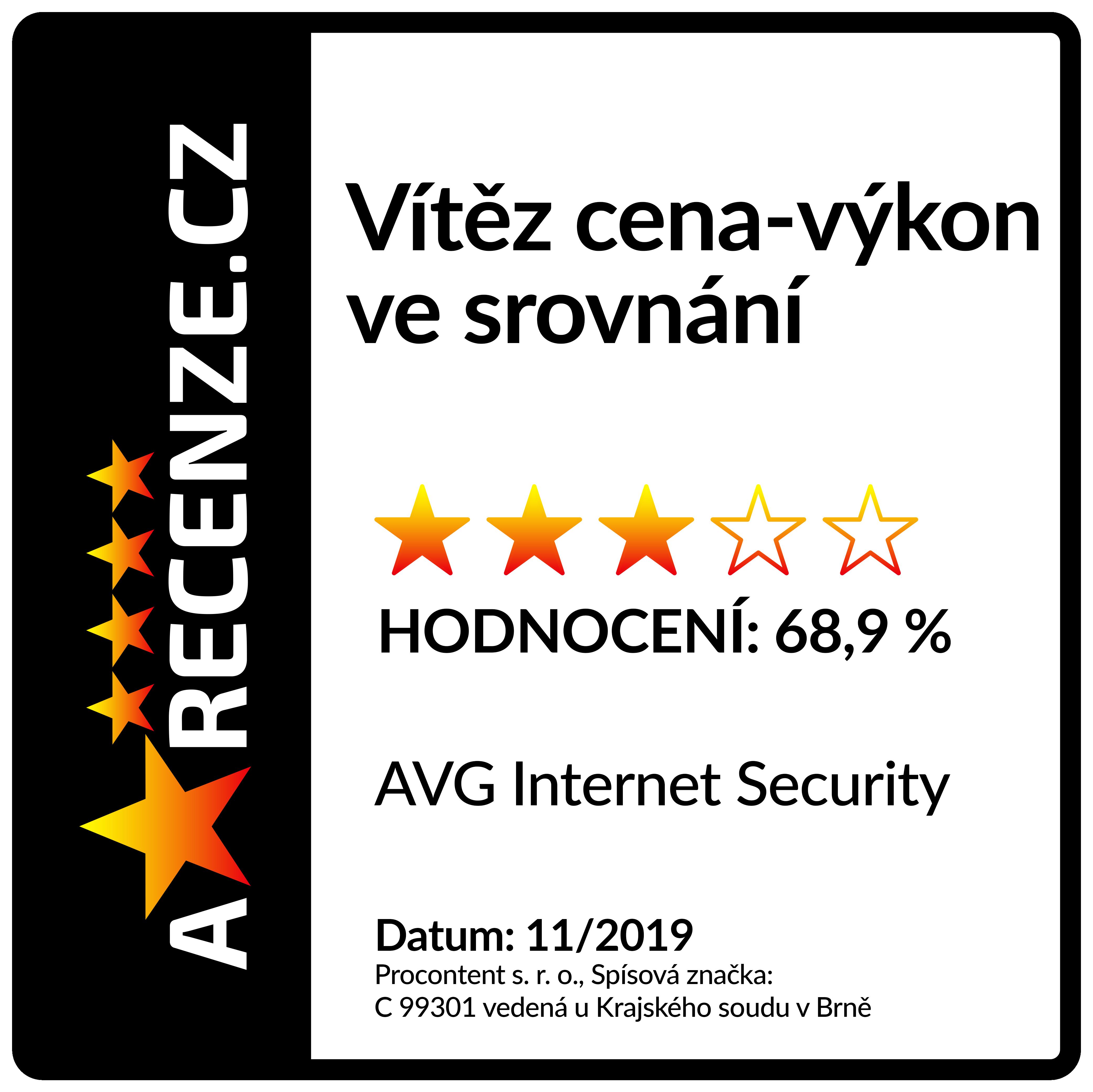 Arecenze.cz - Vítěz kategorie cena/výkon