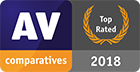 AV-Comparatives - Top Rated Product for 2018