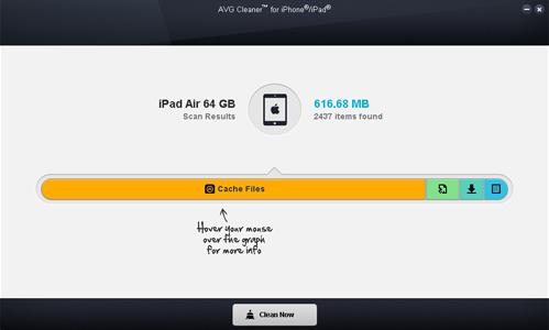 AVG Cleaner dla urządzeń iPhone iiPad