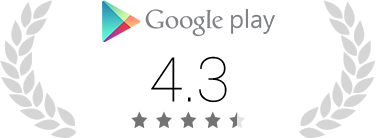 Hodnocení 4,3 z5 na Google Play