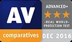 Nagroda AV Comparatives, grudzień 2016
