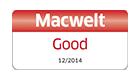 2014 年 12 月 Macwelt アワード Good 受賞、英語