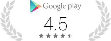 Hodnocení 4,4 z5 na Google Play