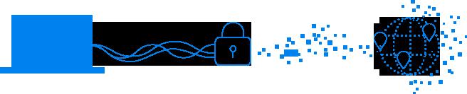 VPN の説明のイラスト