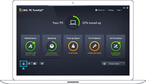 Používateľské rozhranie – Úsporný režim
