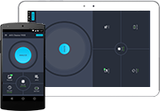 Teléfono y tablet con Cleaner para Android UI