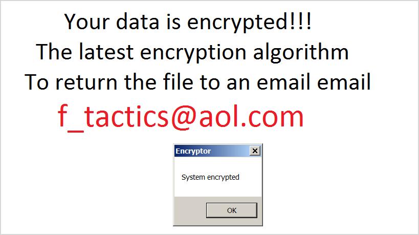 Captura de ecrã do ransomware Legion