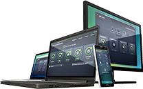 Vari dispositivi con interfaccia dei prodotti Business Edition