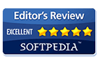 Utmerkelsen Excellent i Softpedia Editor's Review