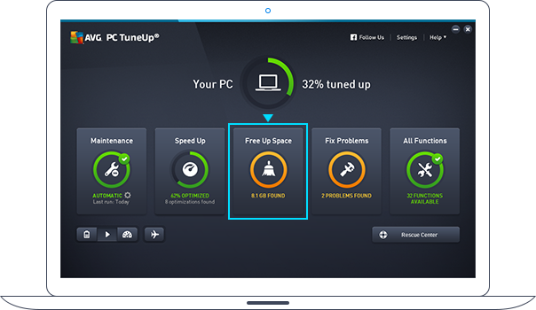 PC TuneUp – Dashboard