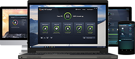 Performance overview, devices, laptop, Mac, mobile phone, tablet, 269 x 117 px
