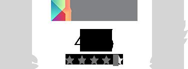 Beoordeling van 4,4/5 op Google Play
