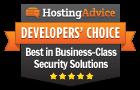Prêmio Escolha dos Desenvolvedores pela HostingAdvice