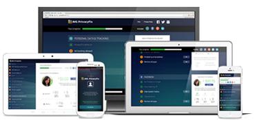 Dispositivos com interface do Privacy Fix