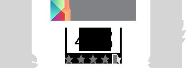 Calificación 4.3/5 en Google Play