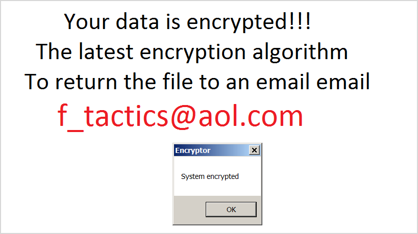 Captura de ecrã do ransomware Legion