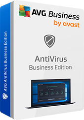 Snímek krabice AntiVirus Business Edition, bez stínu