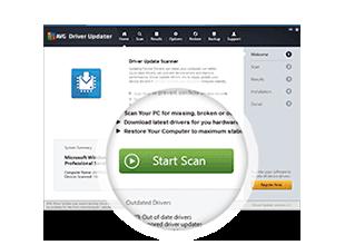 AVG Driver Updater Installation Step Two Start Scan